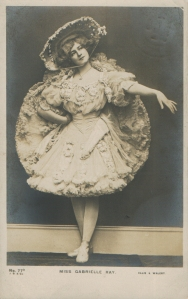 "Gabrielle Ray as ""Dolly Twinkle"" in ""The Casino Girl"" 1900 (J. Beaglea 77 V)"