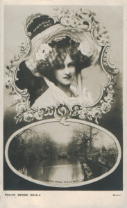 "Gabrielle Ray as ""Thisbe"" in ""The Orchid"" 1903 (Philco 6009 A)"