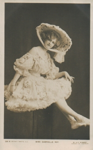 "Gabrielle Ray as ""Thisbe"" in ""The Orchid"" 1903 (Rotary 391 H)"