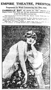 Gabrielle Ray - Lancashire Evening Post - Friday 23 July 1920