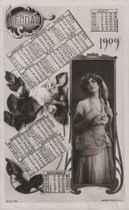 Gabrielle Ray (Rotary X.C.C. 531) 1908 Calendar