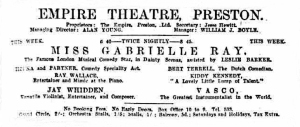 Gabrielle Ray - Lancashire Evening Post - Friday 30 July 1920