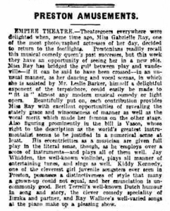 Gabrielle Ray - Lancashire Evening Post - Tuesday 27 July 1920