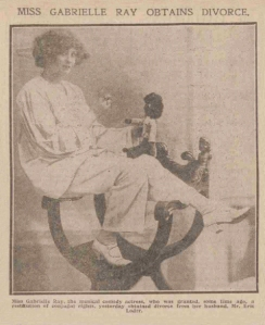Gabrielle Ray - Daily Record - Friday 24 July 1914