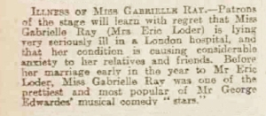 Gabrielle Ray - Dundee Courier - Monday 09 December 1912