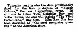 Flying Colours - The Observer - Sunday September 3rd 1916