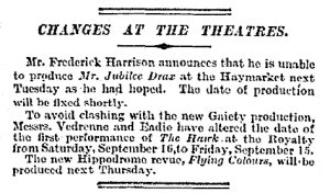 Flying Colours - The Times - Friday 8th September 1916