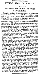 Flying Colours - The Times - Monday 18th September 1916