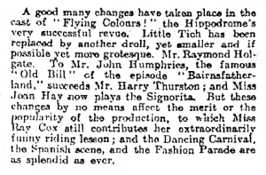 Flying Colours - The Times - Sunday 31 December 1916