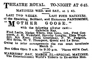 Mother Goose - The Manchester Guardian - Tuesday 22nd February 1921