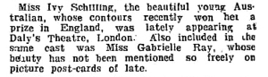 Ivy Schilling - Punch (Melbourne, Vic.) Thursday 27 January 1916