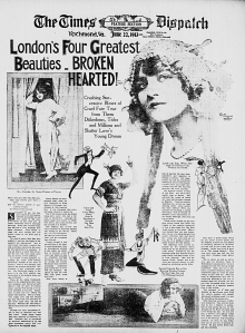 London's Four Greatest Beauties - Broken Hearted -The Times Dispatch - 22 June 1913