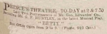 Betty – Manchester Courier and Lancashire General Advertiser – Saturday 30 January1915