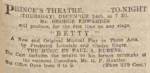 Betty – Manchester Courier and Lancashire General Advertiser – Thursday 24 December1914
