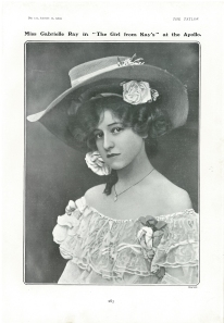 Gabrielle Ray - The Girl From Kay's - The Tatler - 12th August 1903