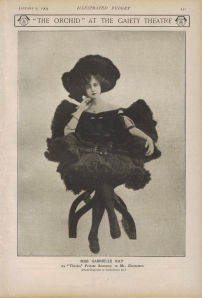 Gabrielle Ray - The Orchid - Illustrated Budget - 9th January 1904