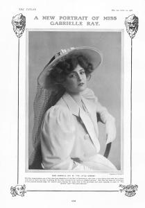 Gabrielle Ray - The Little Cherub - The Tatler - 25th April 1906