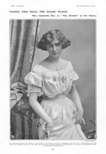 Gabrielle Ray - The Orchid - The Tatler - 25th November 1903