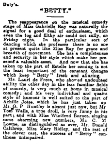 Betty - The Observer Sunday 31 Oct 1915