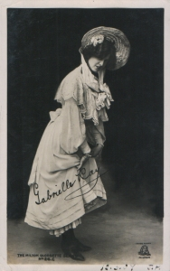 "Gabrielle Ray as ""Thisbe"" in ""The Orchid"" 1903 (Milton Glossette 26 C)"