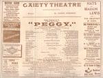 Peggy – Programme  cast – 1911