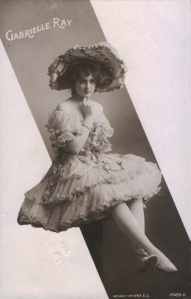 "Gabrielle Ray as ""Dolly Twinkle"" in ""The Casino Girl"" 1900  (Rotary 3585 A)"