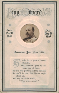 King Edward VII - Memorium Card (C. W. Faulkner & Co 943)