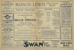The Dollar Princess Programme - 25th September 1909 - Cast