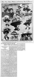 The Merry Widow Hat - Los Angeles Herald  March 22, 1908,