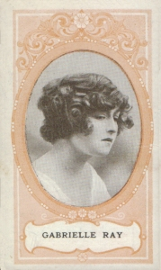 Gabrielle Ray - Scissors Cigarette Card - Orange