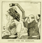 Fig. 3. Getting Over The Difficulty –  George Morrow - Punch 1908
