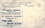 The Girl from Kays - Theatre Royal, Barnstable - 1905 back