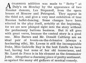 Betty - The Graphic - 12th February 1916