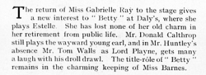 Betty - The Graphic - 6th November 1915