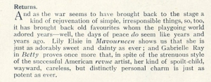 Gabrielle Ray - The Tatler - 1st December 1915