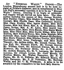 An Eternal Waltz - The Times - Thursday 1st February 1912