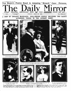 Divorce - The Daily Mirror - 24th July 1914