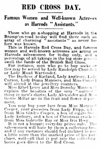 Red Cross Day - The Daily Mirror - 1st December 1915