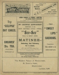 See See – The Royal Lyceum Theatre, Edinburgh – Monday 28th January 1907(back)