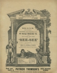 See See – The Royal Lyceum Theatre, Edinburgh – Monday 28th January 1907(front)