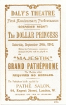 The Dollar Princess advertisement - 24th September 1910 (front)
