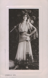 "Gabrielle Ray as ""Frou Frou"" in ""The Merry Widow"" 1907 (Rotary P.1842. G)"