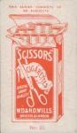 Gabrielle Ray Cigarette card - Scissors No 20 - back