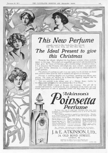 Poinsetta Advertisement - The Illustrated Sporting and Dramatic News - 16th December 1911
