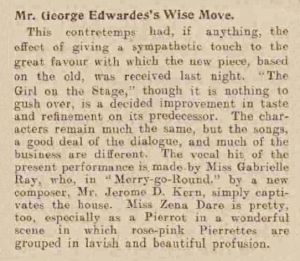 A Girl on Stage - Sheffield Daily Telegraph - Monday 7th May 1906