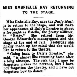 Betty - The Globe - 25th Sep 1915