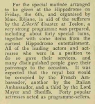 The Rejane Matinee – The Illustrated London News – Saturday 7th October1911