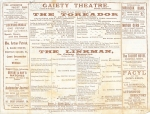 The Toreador – The Linkman – Programme – 3rd July 1903cast